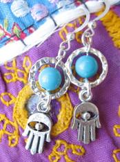 Hamsa Hand Bohemian Earrings