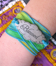 Blessed Silk Ribbon Wrap Bracelet