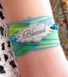 Blessed Silk Ribbon Wrap Bracelet