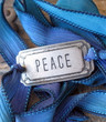 Peace - Silk Ribbon Wrap Bracelet