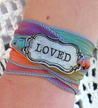 Loved - Silk Ribbon Wrap Bracelet