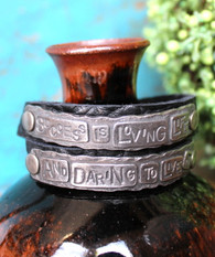 Success is Loving Life and Daring to Live it Wrap Bracelet