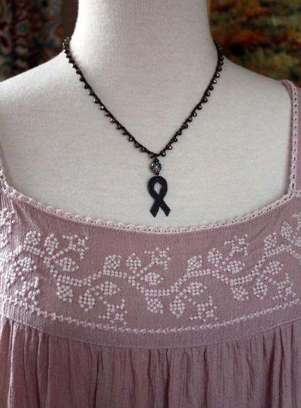Breast Cancer Survivor Awareness Bohemian Necklace