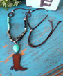 Cowboy Boot Boho Necklace