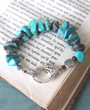 Turquoise Chip Knotted Bracelet