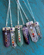 Chakra NecklChakra Necklace - Clear Crystal Quartzaces