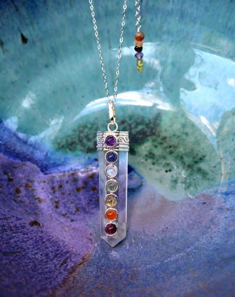 Chakra Necklace - Clear Crystal Quartz