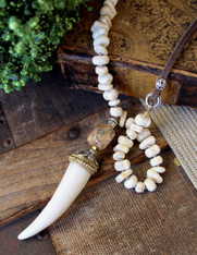 White Tusk Necklace Bella