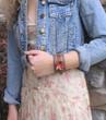 Desert Flower Leather Cuff