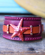Starfish Leather Cuff