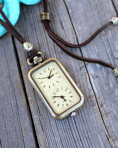 Long Distance Relationship Double Watch Necklace