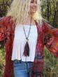 Recycled Sari Silk Tassel Necklace