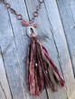 Recycled Sari Silk Tassel Necklace
