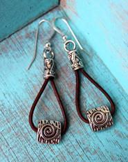 Spiral Bohemian Earrings