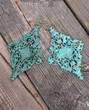 Lola Turquoise Verdigris Statement Earrings