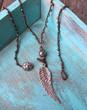 Angel Wing Crochet Boho Necklace