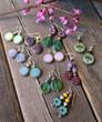 Raindrop EarRaindrop Earrings - Mint Green Czech Glassrings - Green Czech Glass