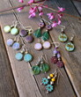 Raindrop Earrings - Mint Green Czech Glassrings - Green Czech Glass