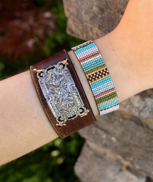 Handwoven Beaded Bracelet - Julia