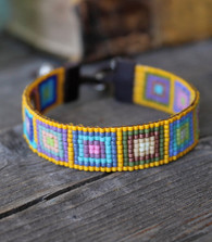 Handwoven Beaded Bracelet - Mia