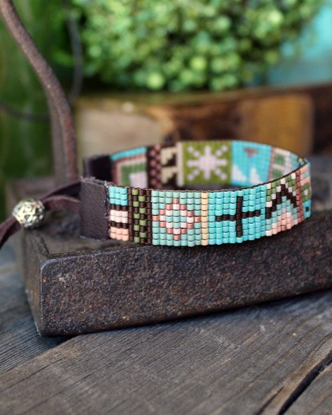Handwoven Beaded Bracelet - Ella