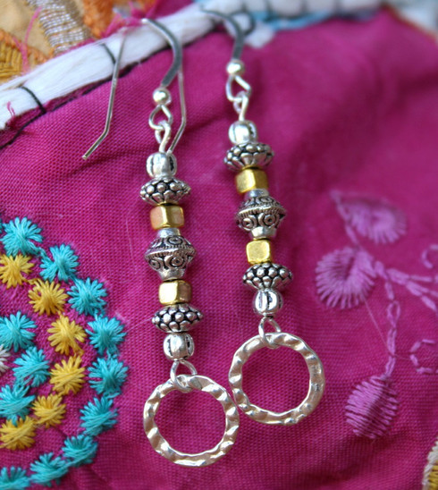 "Two-Tone Earrings ""Elyssa"""