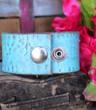 Turquoise Mandala Recycled Leather Cuff