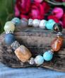 Mixed Gemstone Stretch Bracelet - Lily