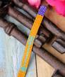 Hand Loomed Turquoise Yellow Beaded Bracelet Skinny Arrow