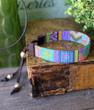 Hand Loomed Beaded Bracelet - Amelia Blue, Green and Purple Monochrome