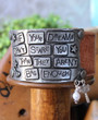 If Your Dreams Don't Scare You Recycled Leather Cuff