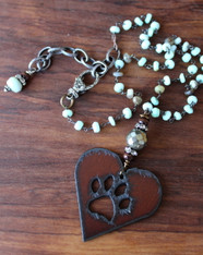 Paw Print Amazonite Necklace