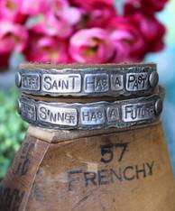 Every Saint Has a Past Leather Wrap Bracelet