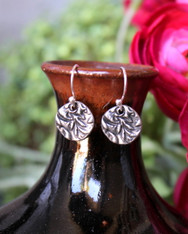 Stamped Drop Earrings