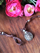 Knotted Leather Dragonfly Necklace