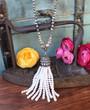 Elegant Pearl Tassel Necklace