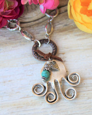 Recycled Fork Boho Chic Necklace