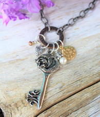 Mermaid Key Charm Necklace