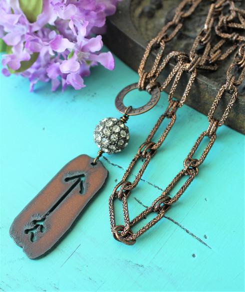 Rusted Arrow Boho Necklace