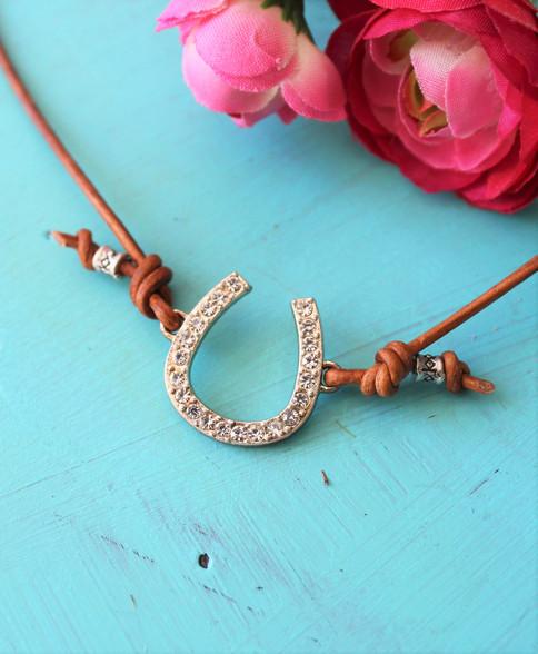 Boho Chic Horseshoe Necklace