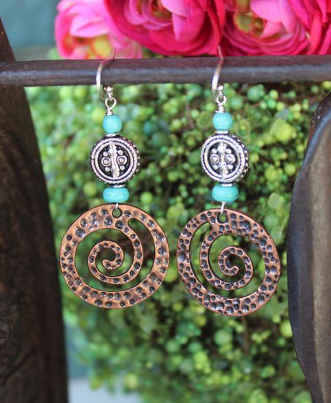 Spiral Jetty Earrings