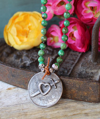 Cherish All Lessons Green Turquoise Necklace