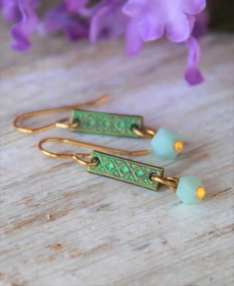 Green Bohemian Earrings