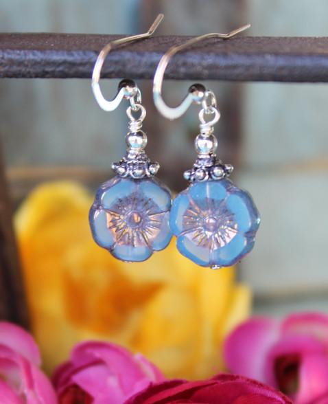 Little Blue Flower Earrings