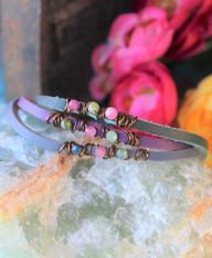 Wire-Wrapped Gemstone Bracelets