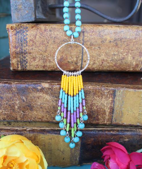 Beaded Fringe Boho Chic Necklace
