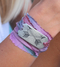 Crossed Arrows Ribbon Wrap Bracelet