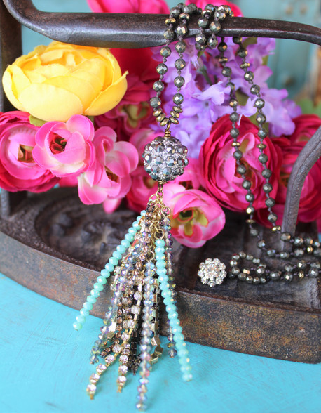 Boho Bling Tassel Necklace
