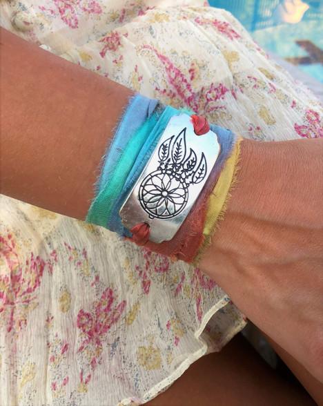 Dreamcatcher Ribbon Wrap Bracelet