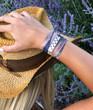 Paw Print Ribbon Wrap Bracelet